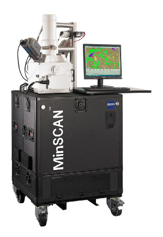 The MinSCAN by Zeiss microscopy a ruggedised automated mineralogy system suitable for operational settings